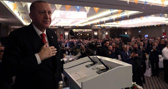 Erdoğan Ak Parti Teşkilatı İle Akşam Yemeğinde Buluştu