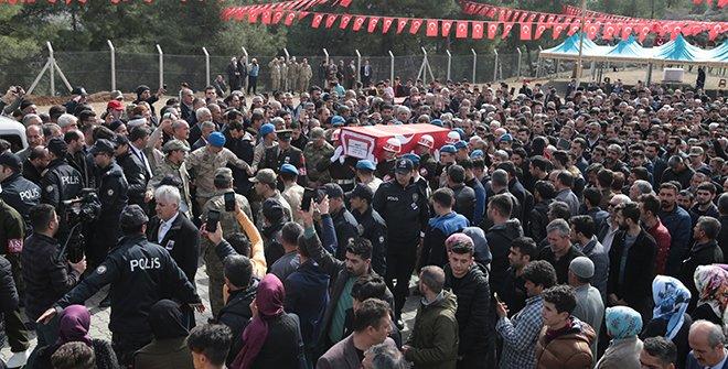 İdlib şehidi Uzman Çavuş Baykuş, Kahramanmaraş'ta son yolculuğuna uğurlandı
