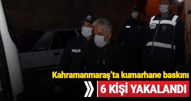 Kahramanmaraş'ta kumar oynanan eve yapılan baskında 6 kişi yakalandı
