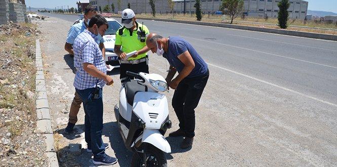 Çalıntı motosikletle polisten kaçan şüpheli yakalandı