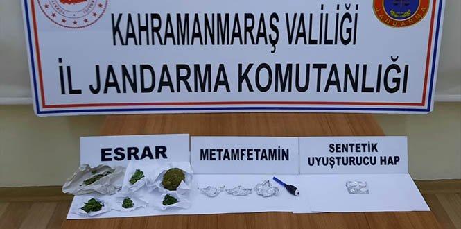 Kahramanmaraş'taki narkotik uygulamasında 21 şüpheliye yasal işlem yapıldı