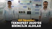 KSÜ Öğrencileri Teknofest'te birincilik aldılar