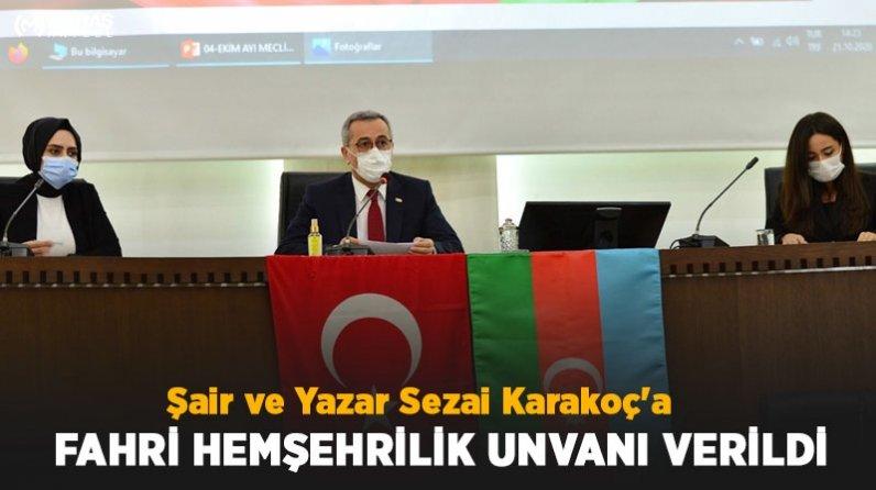 Şair ve Yazar Sezai Karakoç'a Fahri Hemşehrilik Unvanı Verildi