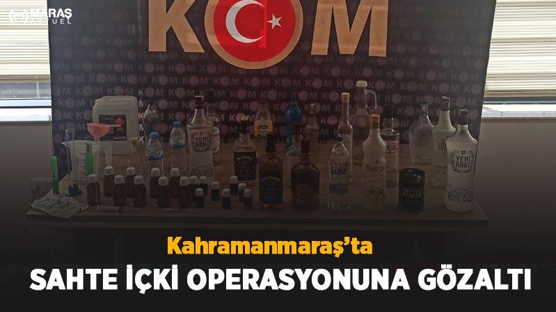 Sahte İçki Operasyonuna Gözaltı