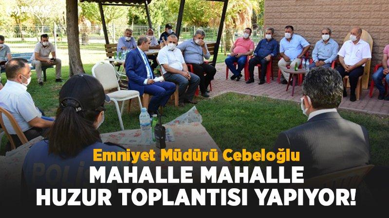 Kahramanmaraş'ta huzur toplantısı yapıldı